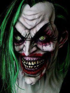 Evil Joker - as opposed to. Der Joker, Joker Art, Joker Batman, Insane Clown, Creepy Clown, Creepy Horror, Evil Clown Tattoos, Joker Kunst, Helloween Make Up
