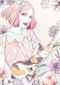 Mint & Strawberry - Soleil Ignacio Illustrations