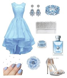 """""""Baby blue 💙"""" by sabrinawimer on Polyvore featuring Jimmy Choo, Betsey Johnson, Givenchy, Fraiche and Monsoon"""