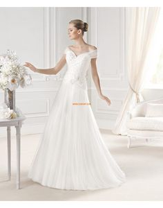 Tulle Brillant & Séduisant Perle Robes de mariée 2015