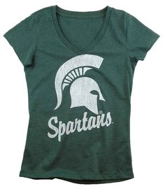 Michigan State Spartans v-neck tee