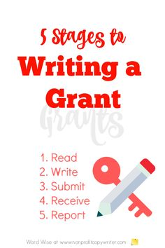 5 stages to writing a grant with Word Wise at Nonprofit Copywriter #GrantWriting #nonprofits #WritingTips Easy Writing, Writing A Book, Writing Tips, Grant Proposal Writing, Grant Writing, A Formal Letter, Stages Of Writing, Acceptance Letter, Professional Writing