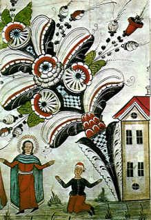 Swedish Dala Paintings: Swedish kurbits paintings