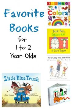 Favorite Books for 1 to 2 year-olds from growingbookbybook.com