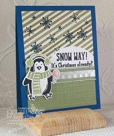 Merry Monday Christmas Challenge: Merry Monday {Cards for Kids} Holiday Day, Holiday Cards, Christmas Cards, Snow Place, Christmas Challenge, Stampin Up Catalog, Stampin Up Christmas, Christmas Settings, Winter Cards