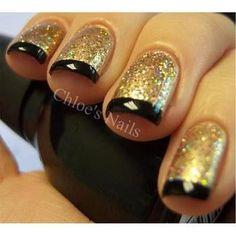 Black,Golden,Sparkle,Nailpaint,Fashion - inspiring picture on PicShip.com