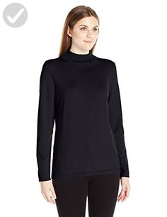 Pendleton Women's Mockneck Pullover Sweater, Black, XS - All about women (*Amazon Partner-Link)
