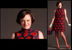 Mad Men Season 6 Fashion Gallery - source Here Sixties Fashion, Retro Fashion, Vintage Fashion, Vintage Style, Peggy Olson, Joan Harris, Jessica Pare, Mad Men Fashion, Fashion Gallery