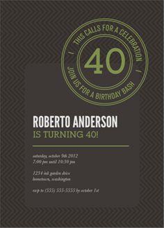 Customizable Adult Birthday Party Invitation by Alyssa Nassner on Ink Garden.