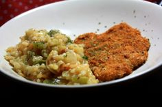 Escalope de veau façon tex mex & son risotto Tex Mex, Risotto, Facon, Cooking, Ethnic Recipes, Meat, Beef Back Ribs, Italy, Cooking Food
