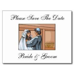 Jewish Wedding Save The Date Postcards