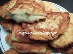 Κουζινοπαγίδα της Bana Barbi: Πατατοπιτάκια νηστήσιμα Cookie Dough Pie, Bread And Pastries, Greek Recipes, Dairy Free, Recipies, Food And Drink, Pork, Appetizers, Snacks