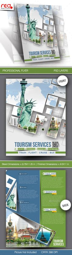 Tourism Service Flyer & Poster Template