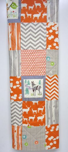 Baby QuiltModern Organic CottonGender by NowandThenQuilts on Etsy, $105.00