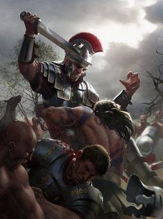 Roman Legionaries Ambushed -  Teutoburg Forest - http://www.inblogg.com/roman-legionaries-ambushed-teutoburg-forest/