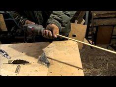 Как просто сделать мебельные шканты с бороздками для выхода клея. - YouTube