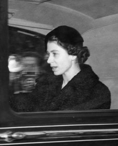 Accession of Queen Elizabeth II - Queen Elizabeth II drives from Clarence House after the proclamation of her accession to the throne.