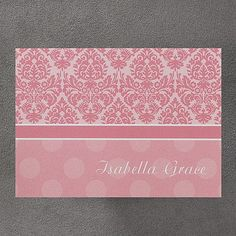 Dots of Pink Note Card and Envelope