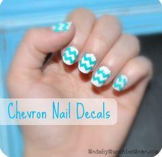 Chevron Nails... So cute!!! :)