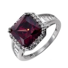 Pink Tourmaline Cushion Cut Ring