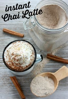 Instant Chai Latte Recipe – Hymns and Verses This Chai Latte mix recipe tastes just like the chai tea from your favorite coffee shop. Just add hot milk to a scoop of dry mix! Chai Latte Mix Recipe, Chia Tea Latte Recipe, Tea Mix Recipe, Chai Recipe, Starbucks Chai Tea Latte Recipe, Chai Coffee Recipe, Powdered Sugar, Tea Recipes, Kitchen
