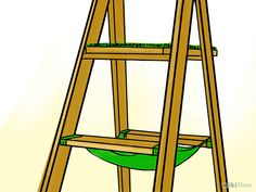 Make a Cat Tree using and old wood ladder