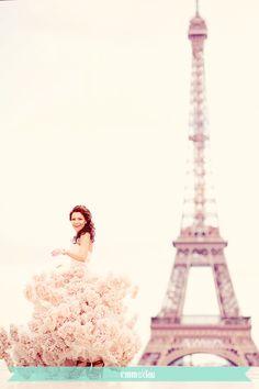 Pink Wedding Dress for a pink Paris!