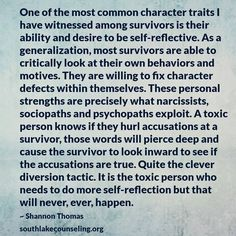 Oh my goodness!  How I questioned myself.  Over and over again.  It was not until I started researching Behavior Disorders that I began to understand my situation.