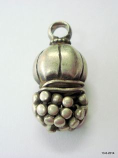 vintage antique tribal old silver bead pendant necklace handmade