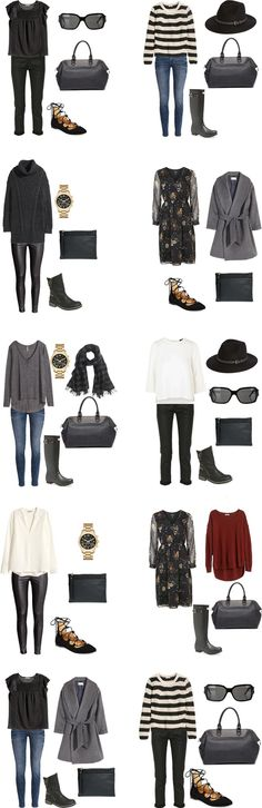 What to Wear in Glasgow, Scotland. Outfits 1-10 #packinglight #packinglist #travellight #traveltips