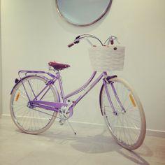 FFS Friday Happy Birthday To ME! retro, vintage, ladies, bicycle, bike, elegant, beautiful, white basket, lavender, leather seat