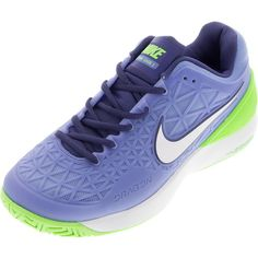 Women`s Zoom Cage 2 Tennis Shoes Chalk Blue and Voltage Green Athletic Outfits, Athletic Clothes, Tennis Gear, Tennis World, Shoe Display, Court Shoes, Amazing Women, Nike Free, Athletic Wear
