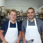 Morgan Rielly and David Broll at cooking class. Morgan Rielly, Toronto, Ice Hockey, Cooking Classes, Champion, David