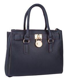 Look at this #zulilyfind! Black Plora Padlock Shoulder Bag by MKF Collection #zulilyfinds