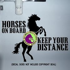 """Horse Crossing Decal Zone Xing 10/"""" horses farm farmer rider riding lessons pony"""