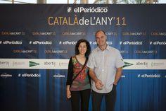 El 'casteller' David Miret, Catalá de l´Any 2010, con su esposa, Esther Poch / DANNY CAMINAL
