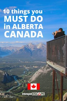 Alberta is an incredibly beautiful province in Canada, these are 10 things you must do in Alberta, including Fort Edmonton, the Glacier Skywalk & Elk Island Quebec, British Columbia, Calgary, Canadian Travel, Canadian Rockies, Canadian Art, Vancouver, Places To Travel, Travel Destinations