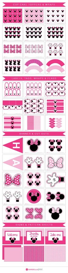 Minnie Mouse invitations Minnie Mouse Party por GardellaGlobal