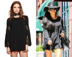 Naya Rivera out and about, Beverly Hills, August 15, 2014 For Love & Lemons 'Festival' Dress - $202.00 Worn with: Gucci hat, Dolce & Gabbana sunglasses, Hermès bag, Stuart Weitzman boots
