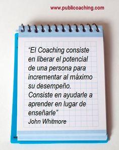 El Coaching, según John Whitmore  #fatocoaching #fatoevolucion #coachingtools