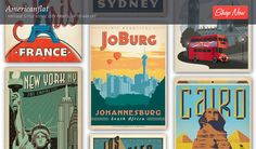 Celebrate the Golden Age of Poster Art with vintage-style designs inspired by legendary cities. Americanflat and Anderson Design Group will stamp your passport with prints from dream destinations – get lost in the well-crafted lettering touched with rich and romantic colours reminiscent of the grand travel era. Where to first? www.citymob.co.za