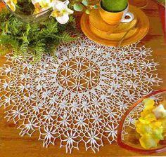 Delicate lace doily.