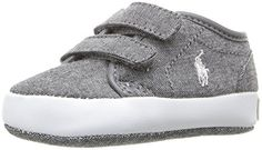 Ralph Lauren Layette Ethan Low EZ GRY Sneaker InfantToddler Grey 2 M US Infant >>> Be sure to check out this awesome product.