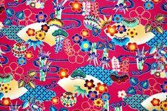 Japanese Cotton, Japanese Kimono, Kimono Fabric, Cotton Fabric, Okinawa, Sewing Clothes, Printed Cotton, Print Patterns, Floral Prints
