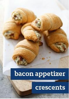 Bacon Appetizer Crescents – Savory dip meets crescent roll for a whole new take on hot appetizers. Plus, they take just 20 minutes to prep for the oven! This is sure to become a party favorite in your home.