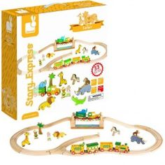 Story Express Safari Wooden Train Set - Educational Toys Planet. Great gift for 3 years  sc 1 st  Pinterest & Train Sets: Airport Express Train Set and Table   Toys Indoor Play ...