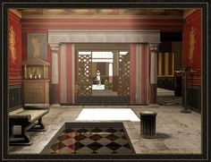 Amazing digitally-reconstructed Ancient Roman house