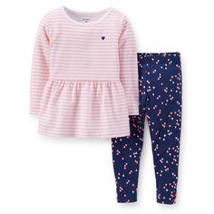 2-Piece Peplum Top & Floral Pant Set | Carter's