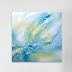 Blue Flush by JA Art Painting Print on Wrapped Canvas