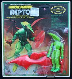 "Micronauts ""Repto"" with Glow in the Dark Brain!"